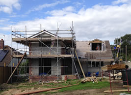 New build home under construction in Teignmouth